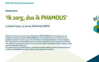 31 januari 2013: PHAMOUS-symposium